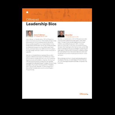 Offerpad Leadership Bio Cover Image